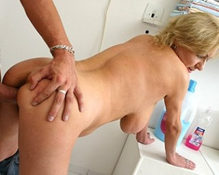 Big titted mama getting the full load