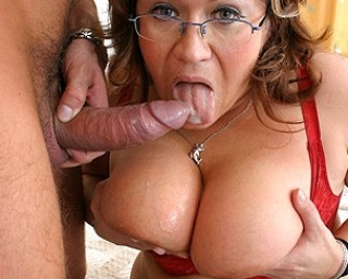 Big titted mature slut sucking and fucking